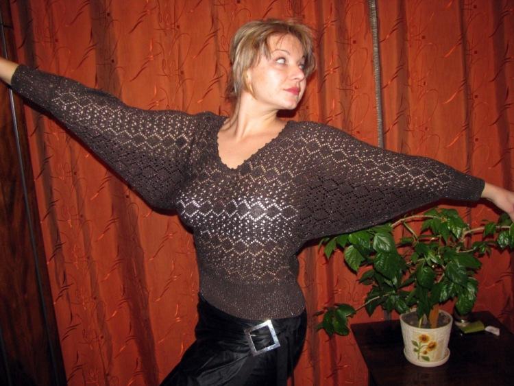 Вязание спицами свитера летучая мышь - рукоделие мастер класс для