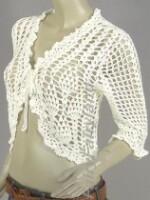 вязание хлопок, манишка схема вязания спицами для женщин.