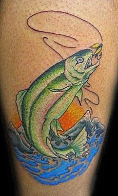 тату на рыболовную тему