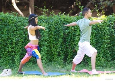 Катерина на занятиях йогой в парке Голливуда [2 октября]
