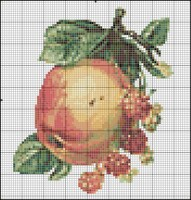 Яблочный спас вышивка крестом схема 100