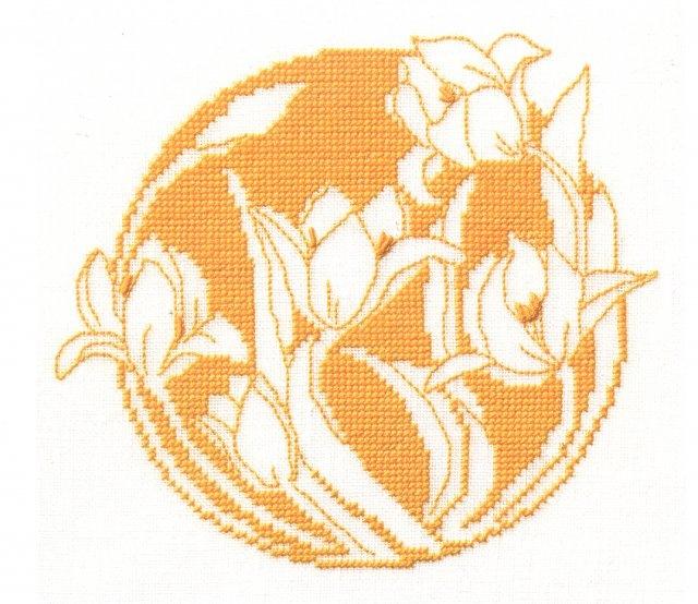 Монохромные схемы для вышивки