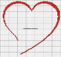 Схемы вышивки.  Романтичные сердечки.  Прочитать целикомВ.