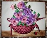 Вышивки .  Вышивка лентами цветы Самая оригинальная и необычно.