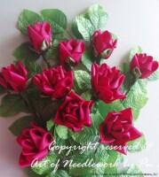 Розы из лент.  Мастер класс.:  Дневник.