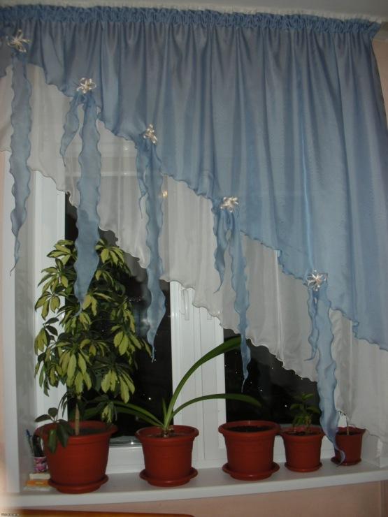 Своими руками шторы для маленькой кухни фото