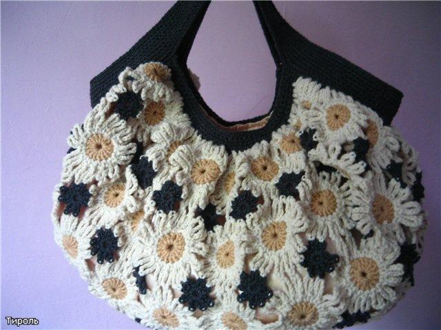 ...диана вязание, бесплатные схемы вязания сумок и подробное вязание.