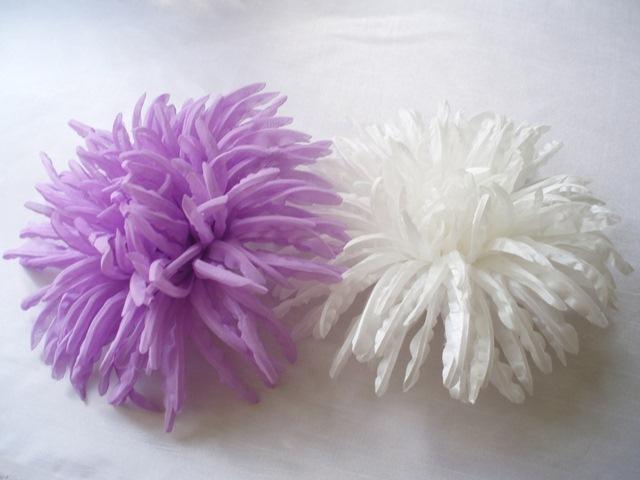 Изготовление цветов из вуали