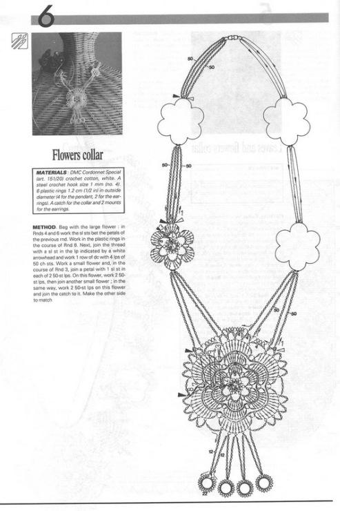 Вязаные украшения и схемы
