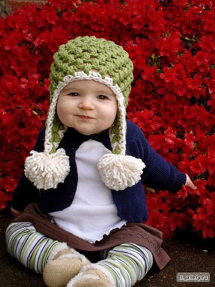 вяжу малышам.avi - YouTube шапки и шарфы для детей Вязание спицами