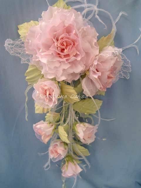 Мастер класс изготовление цветов из ткани своими руками