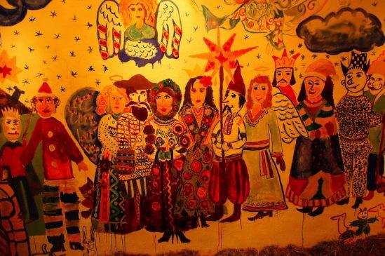 Львов. Стена около кафе «Пiд клепсидрою» («Под часами»)