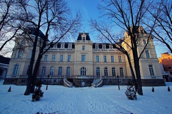 Дворец Потоцких со стороны парка.
