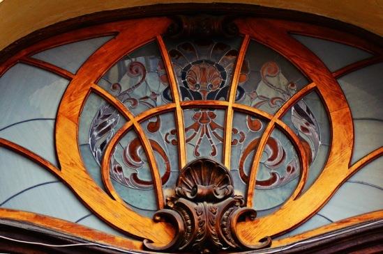 Львов, Дом ученых. Плафон над аркой.