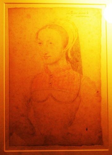 Жанна д'Альбре. Рисунок Франсуа Клуэ.