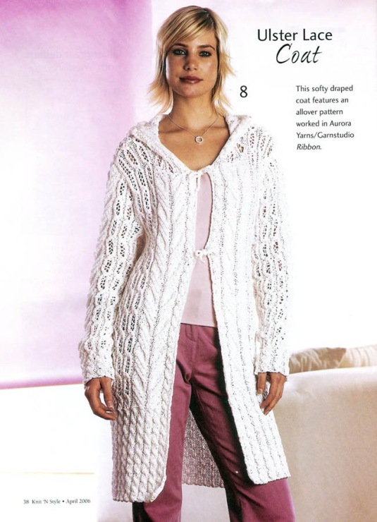 spring crafts: ulster lace coat, knitting tutorial