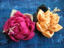 как сделать розу из ткани своими руками.