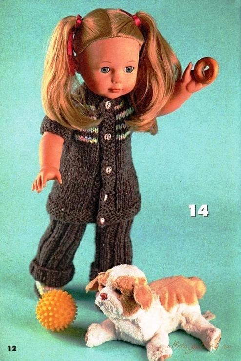 В этом разделе собрана вязаная одежда для кукол без разделения на технику вязания, будь то спицами или крючком