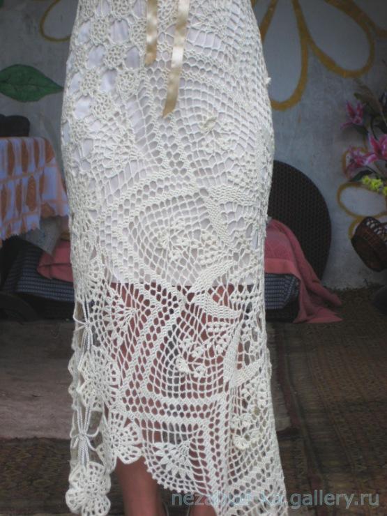 Платье из мотивов салфеток