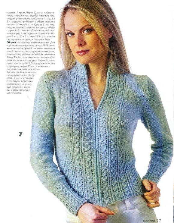 13 января 2012. вязаная кофта на молнии спицами, и модели женских вязанных жакетов