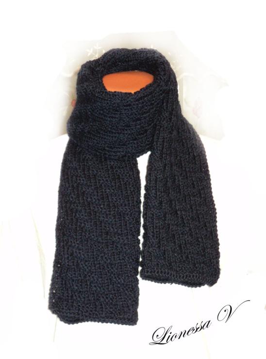 Вяжем стильные мужские шарфы