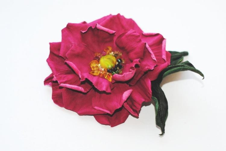 выкройки для цветов из кожи - Вязание.
