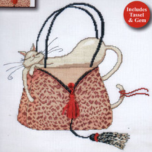Техника.  Design Works 2728 Leopard Purse. счетный крест.