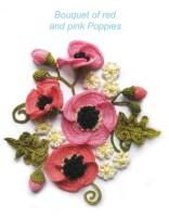 Цветы крючком - Маки СХЕМА И ОПИСАНИЕ.