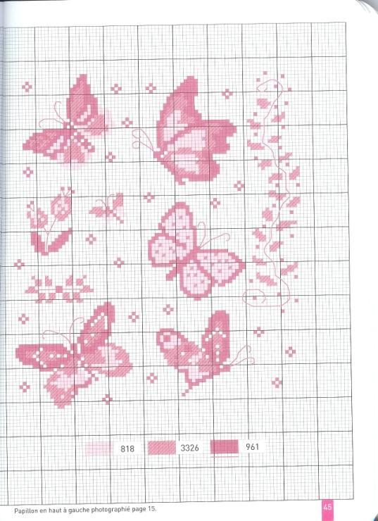 Schemi punto croce farfalline punto croce schema n 2 for Neonati da colorare e stampare
