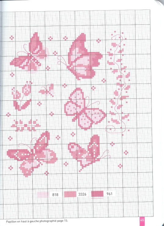 schemi punto croce farfalline punto croce schema n 2