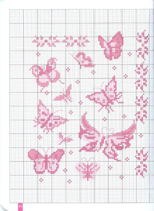 schemi punto croce farfalline punto croce