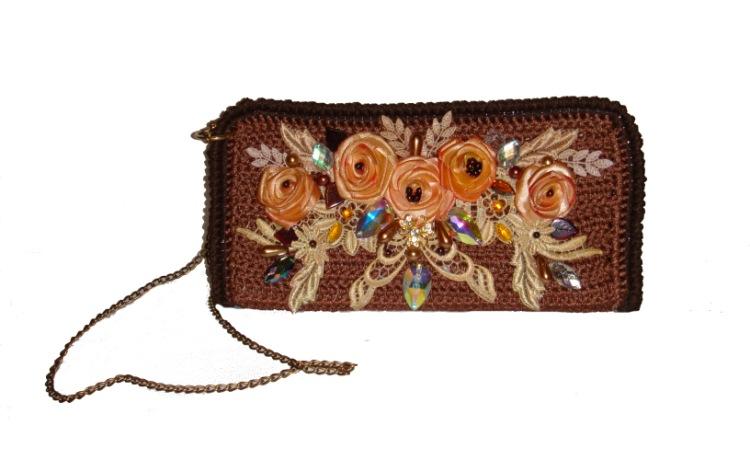 Блог.ру - akmaya - Вязанные сумки из атласных лент.