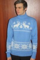 мужские свитера с оленями схема - Шарф.