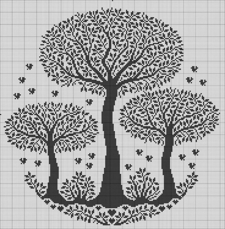 Тэги: Монохром, деревья, схема