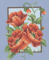 "Схема вышивки  ""Poppies "": таблица цветов."