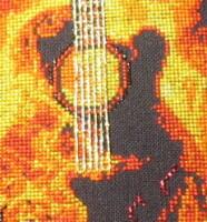 Огненная гитара схема для вышивки 135