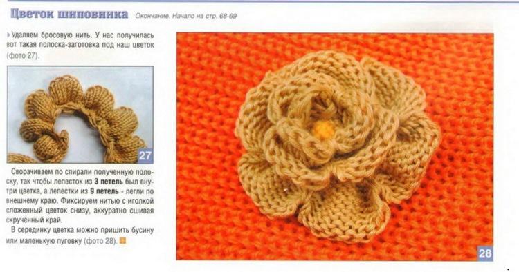 Узор цветы спицами схема, как связать цветы спицами, вязаный
