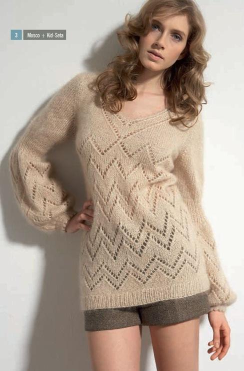 "Пуловер из мохера ""Мерцание"