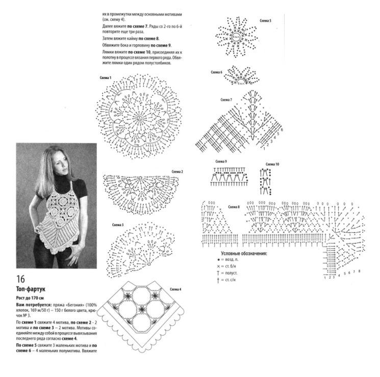 Вязание крючком схемы школьная форма 89