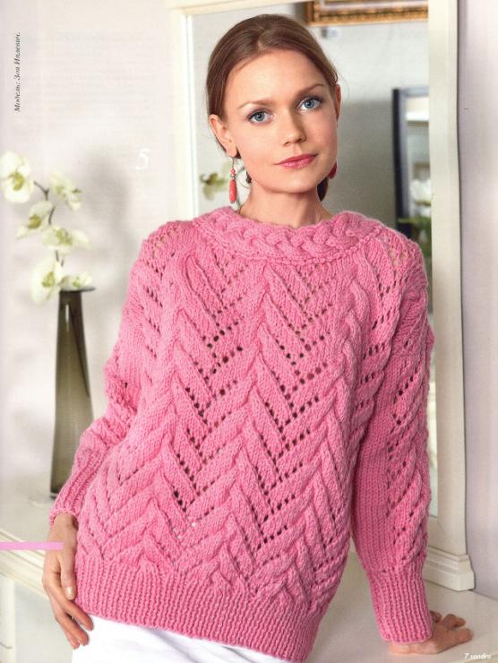 Вязание спицами. женские свитера