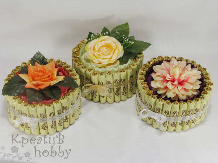 Торт из конфет для мамы своими руками пошаговое фото