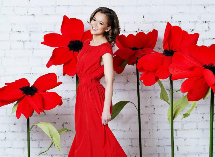 Как сделать большие цветы для фотосессии своими руками