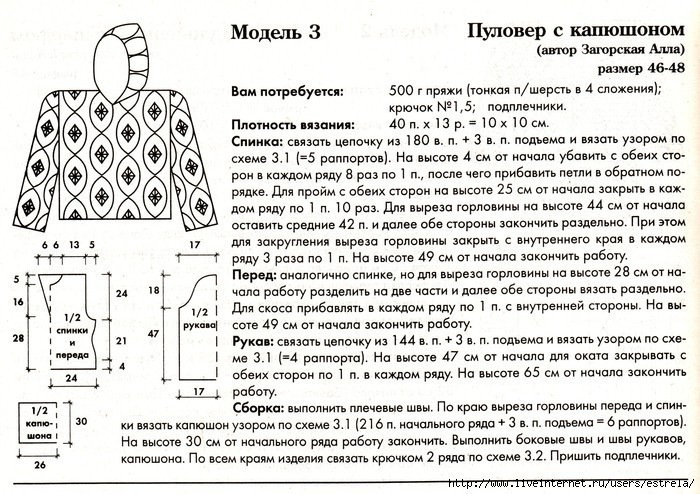 Вязание капюшона от горловины спицами малышам мк