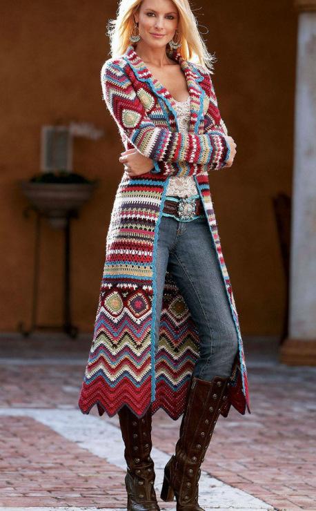 Купить одежду хиппи - Вязаная одежда в стиле хиппи МОЙ МИЛЫЙ ДОМ - идеи сво