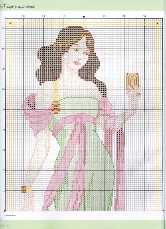 Схемы вышивания крестом девушка