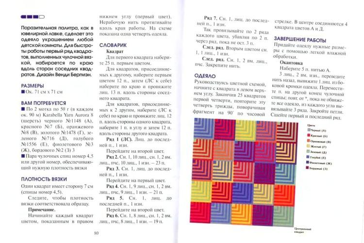 Вязание квадратов на спицах 22