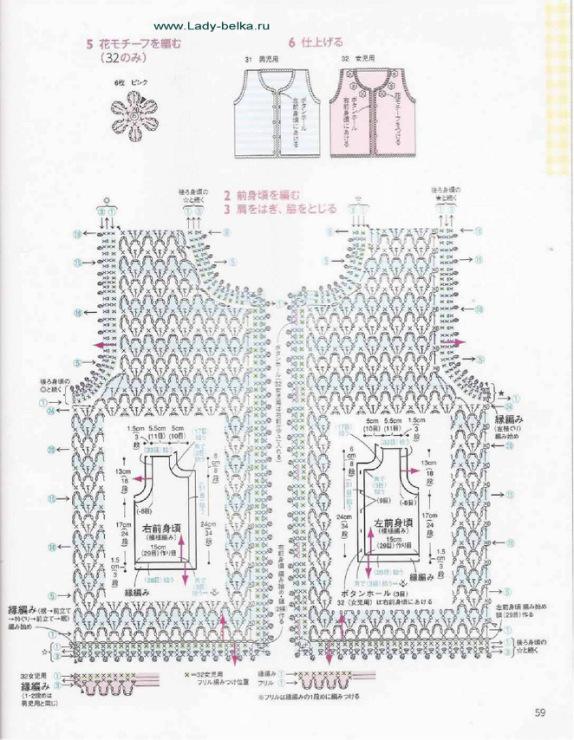 Безрукавка крючком Безрукавка крючком размер безрукавок, схемы и (схема 4. Вязаная безрукавка крючком вязание для