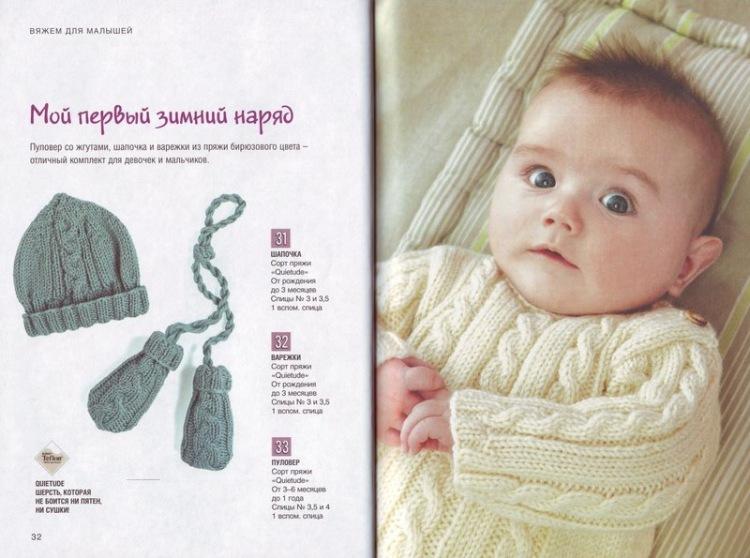 Вязание для малышей с описанием и фото