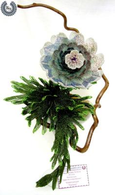 Цветы из бисера, 2часть.