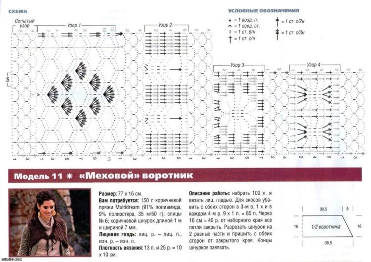 Схемы вязания, схемы вышивки, новые и современные модели для вас